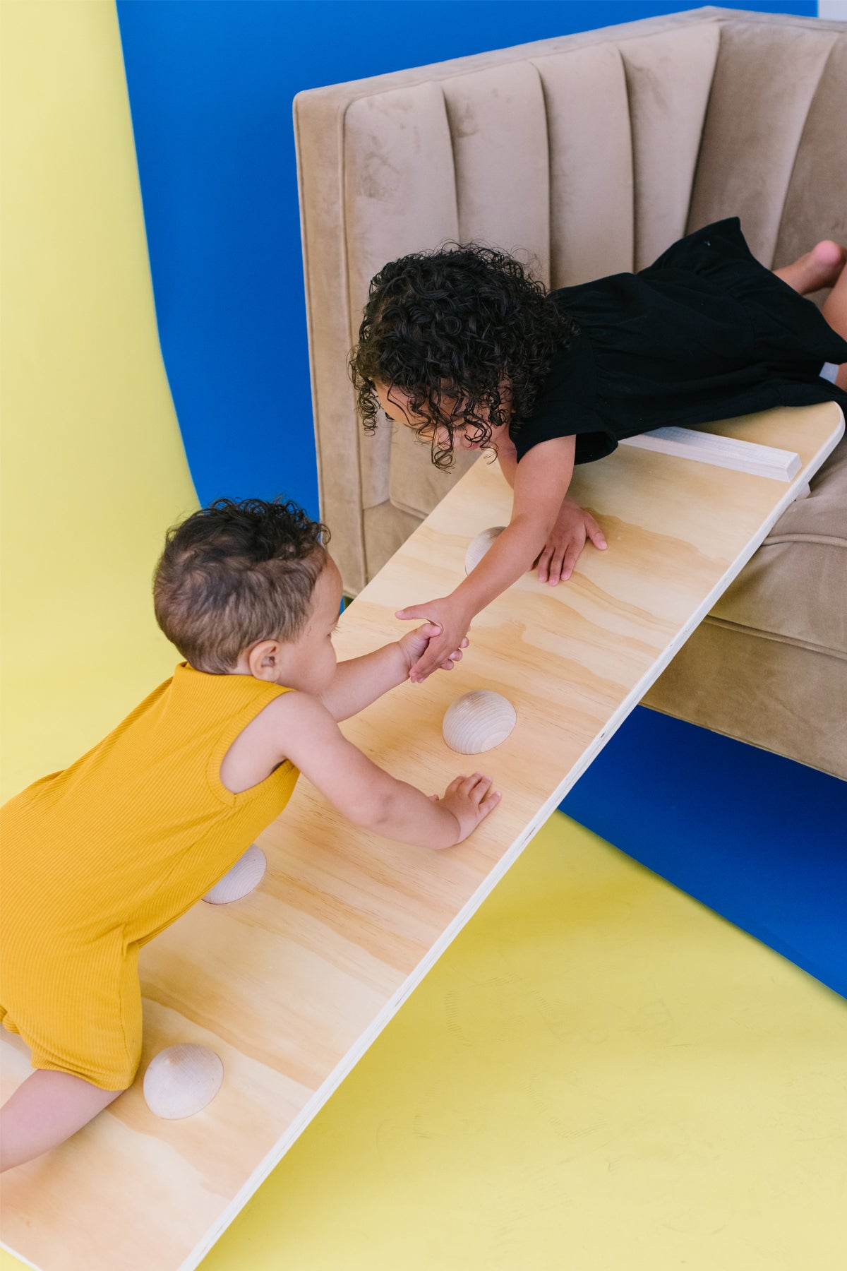 The Pikler Couch Slide and Climbing Wall