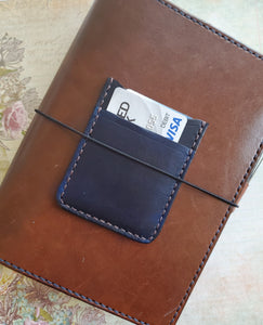leather traveler's notebook leather wallet card sleeve