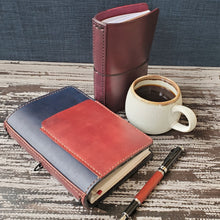Small Front Pocket and Spine Combo for Leather Notebook or Planner Cover Add-On - Bassy & Co