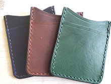 Leather Card Sleeve with Front Pocket, Minimalist - Bassy & Co