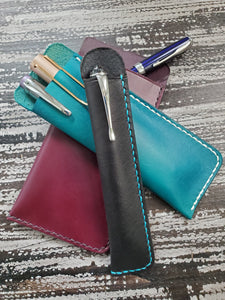 Single Leather Pen Sleeve