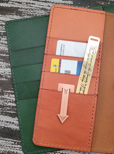 A5 Wallet Style Leather Planner Cover