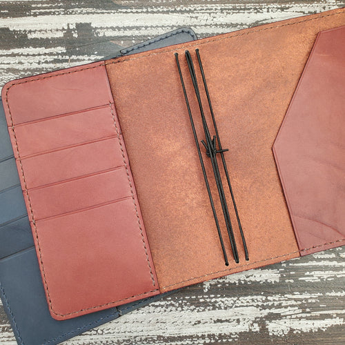 Wallet Style Leather Travelers Notebook Cover