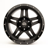 SNIPER WHEELS BARACADE 18 x 9, 5x150, +20 Matt Black with Gloss Black Lip set of 4pcs including caps. Flow Formed