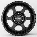SNIPER WHEELS FRONTLINE 18 x 9, 6x139.7, +20 Matt Black set of 4pcs including caps. Load rated 1250kg per wheel.