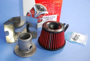 Apexi power intake kit includes adaptor, gasket, bolts, everything for a bolt on installation.