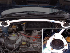Carbing Front Strut Bar Steel 2pt with Master Stopper (MCS)