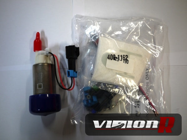 Walbro 450LPH F90000267 E85 fuel pump + walbro fitting kit. Genuine Made in USA.