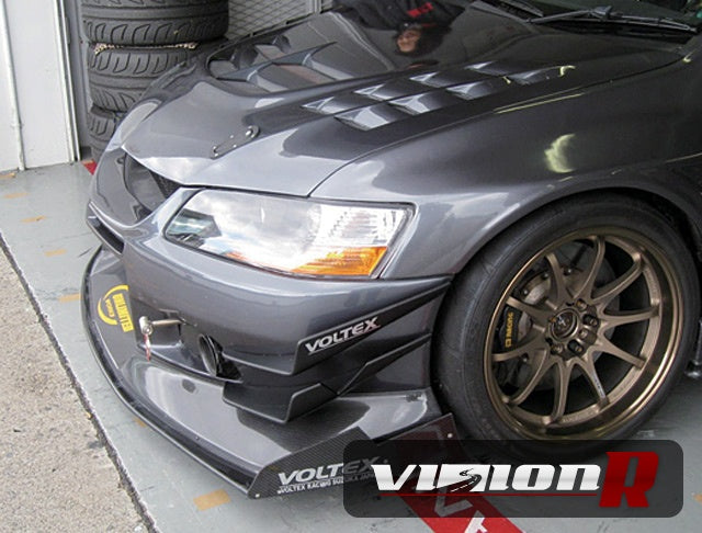 Voltex Cyber Street Version front bumper with front spoiler & under wing diffuser.
