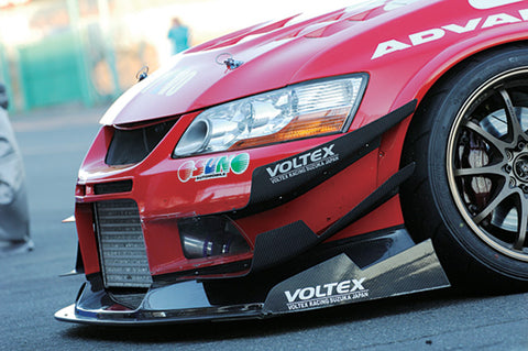 Voltex Cyber Evo front carbon canard set to be used with Cyber Evo front bumper only.