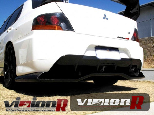 Voltex Rear under diffuser Wet carbon/FRP construction. Evo 9 rear bumper must be used.
