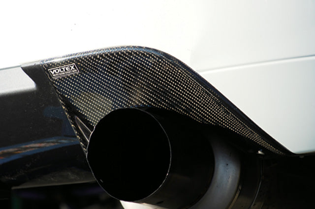 Voltex carbon exhaust protector to suit evo 9. Can be used on any CT9A running evo 9 rear bumper.