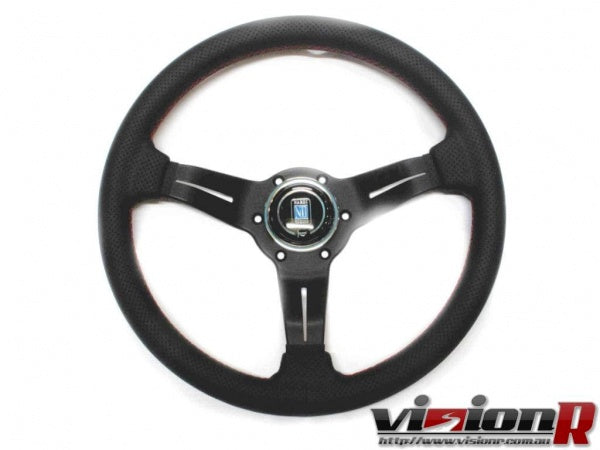 Nardi 330mm Perforated leather steering wheel.