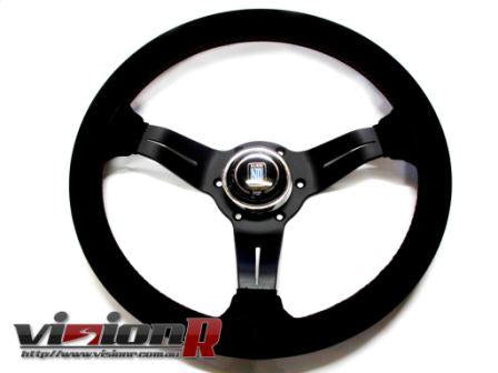Nardi 350mm Suede leather steering wheel.