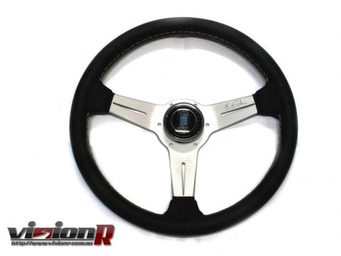 Nardi Classic Leather steering wheel silver.