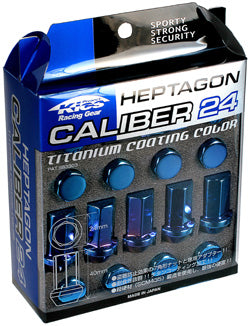 Project Kics Heptagon Calibre 24, titanium coating color, 20pcs, M12 x 1.25