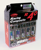 Project Kics R40 Neochro, 20 pcs with wheel locking nuts. M12 x 1.25