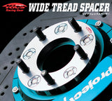 Project Kics Wide tread spacer 25mm, 4H P114.3, 1.5 thread pitch.