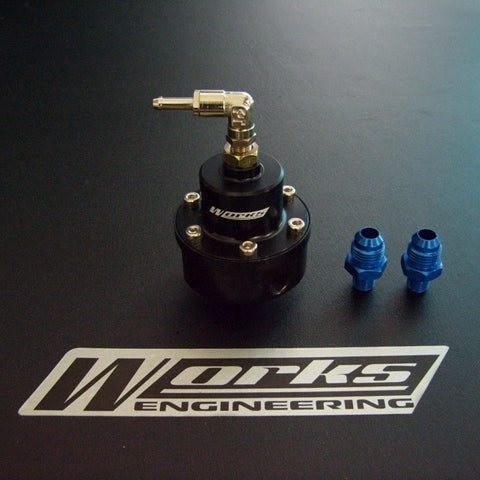 Works Engineering fuel pressure regulator Stage 1. Rated up to 600hp.