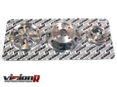 Works Engineering Crank pulley set. 3pc set to suit Nissan Silvia s14/s15