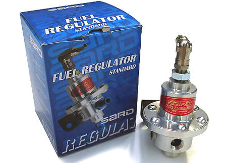SARD fuel pressure regulator type SJ. -6AN fitting Silver.
