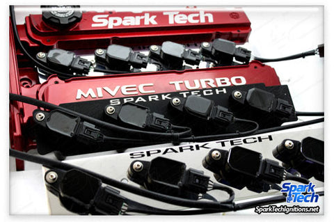 Spark Tech Non CDI Coil On Plug system. Compatible with stock & standalone ECU. Black Mounting Plate