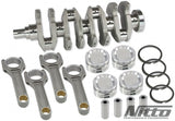 Nitto 2.3L stroker kit billet crank, Billet H beam rods, JE/Nitto Piston kit.