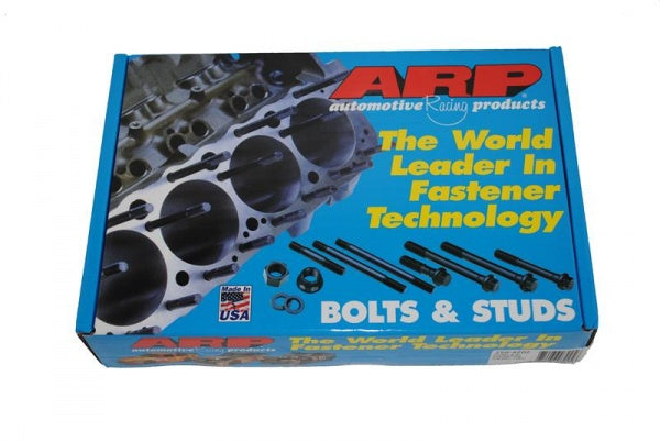 ARP head stud kit. 12 point nuts and ground washers are included.