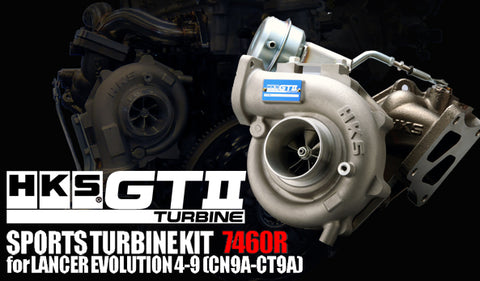 HKS TURBO KIT GTII 7460R. Includes fitting kit for bolt on. GTII 7460 49T A/R0.85