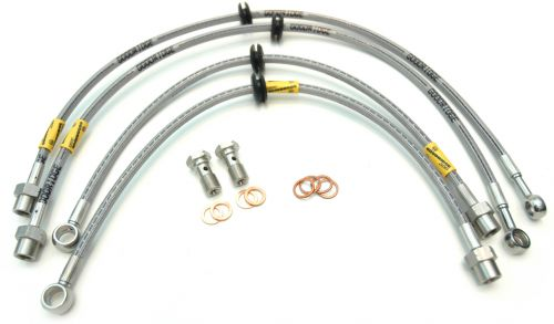 Goodridge braided brake lines. Sold as set of 4 lines and fittings. TUV, DOT and ADR compliant