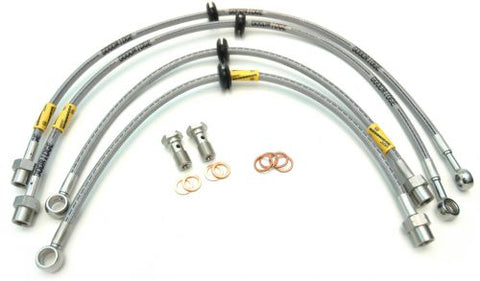 Goodridge braided brake lines. Sold as set of 4 lines and fittings. TUV, DOT and ADR compliant.