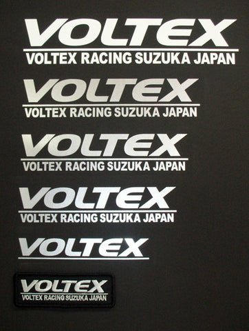 Voltex Sticker (pair) Silver 160mm