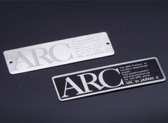 ARC stainless steel plate silver. 90mm×30mm