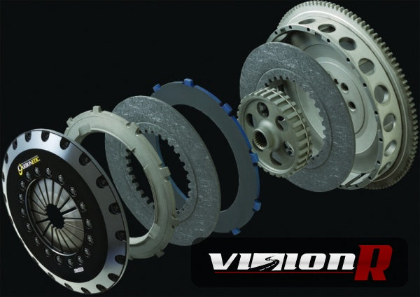 Carbonetics Twin Plate Carbon Clutch kit with flywheel.