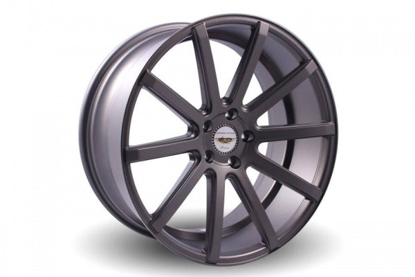 NAYA WHEELS Tensho Flat Grey. 20 x 8.5, 5x114.3 +35. Set of 4