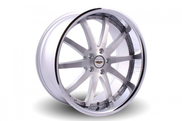 NAYA WHEELS Verti with stainless steel lip. 20 x 8.5, 5x114.3 +35. Set of 4