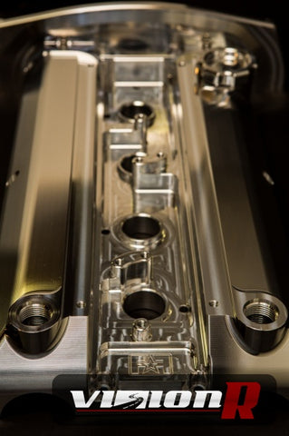 FF Billet Valve Cover with -10AN ORB breather ports.