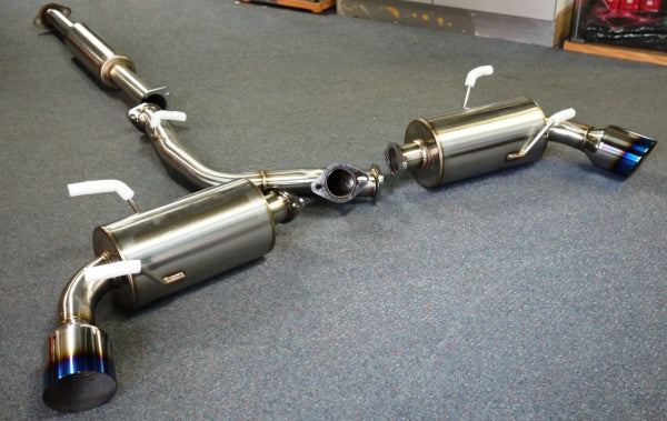"Unknown Performance V1 cat back exhaust Single 4"" Burnt Tips. 2.5 inch piping"
