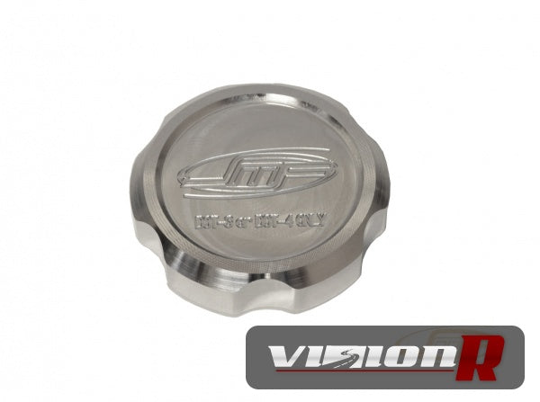 JM Fabrications brake fluid cap. Requires the use of OEM diaphram. Raw billet