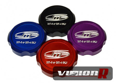 JM Fabrications brake fluid cap. Requires the use of OEM diaphram. Red