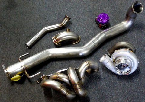 JMF V-BAND turbo kit with TIAL 44mm MVR & Precision Turbo 6262SP Ball bearing includes clamps.