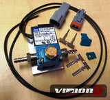 MAC 3 port boost solenoid. Includes fittings, sintered air vent, wiring pins and plugs and bracket a