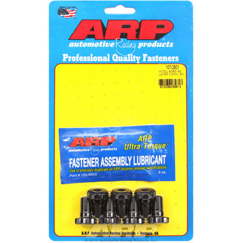 ARP Flywheel bolts are forged and stronger than OEM parts. Comes with lubricant.