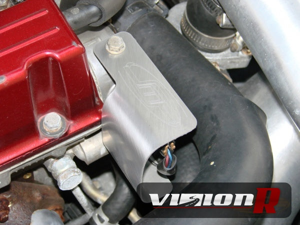 JMF Cam sensor heatshield. Prevents extreme heat from aftermarket exhaust manifolds.