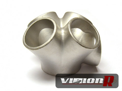 "JMF V-Band merge collector SUS304 stainless steel 1.5"" schedule 10 for PTE & Tial Vband Turbos."