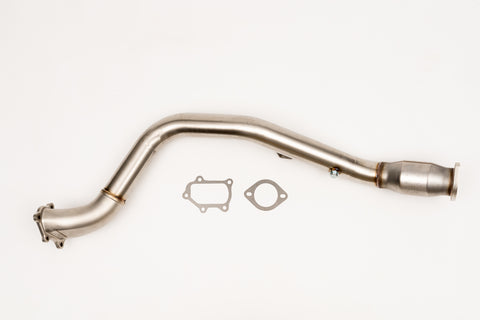Unknown Performance V2 Cast Bellmouth Downpipe with Vibrant USA Catalyzer includes metal gasket..