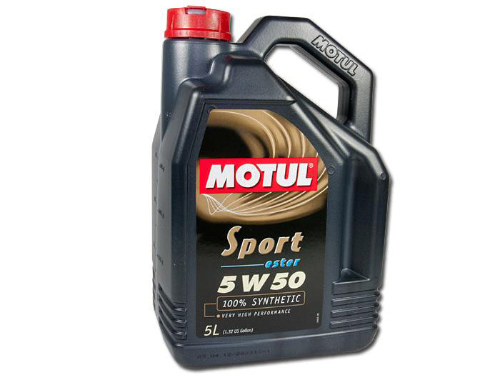 Motul Sport 5W40 100% Synthetic Ester Based, 5L