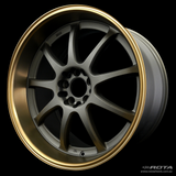 ROTA P1R 18 x 9.5, 5x114.3 +27 Matt Gun Metallic / Bronze Lip