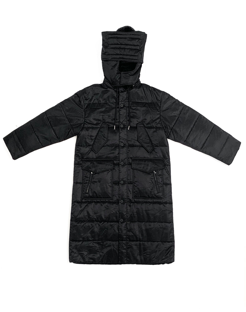 HELMUT LANG LONG BLACK PUFFER JACKET
