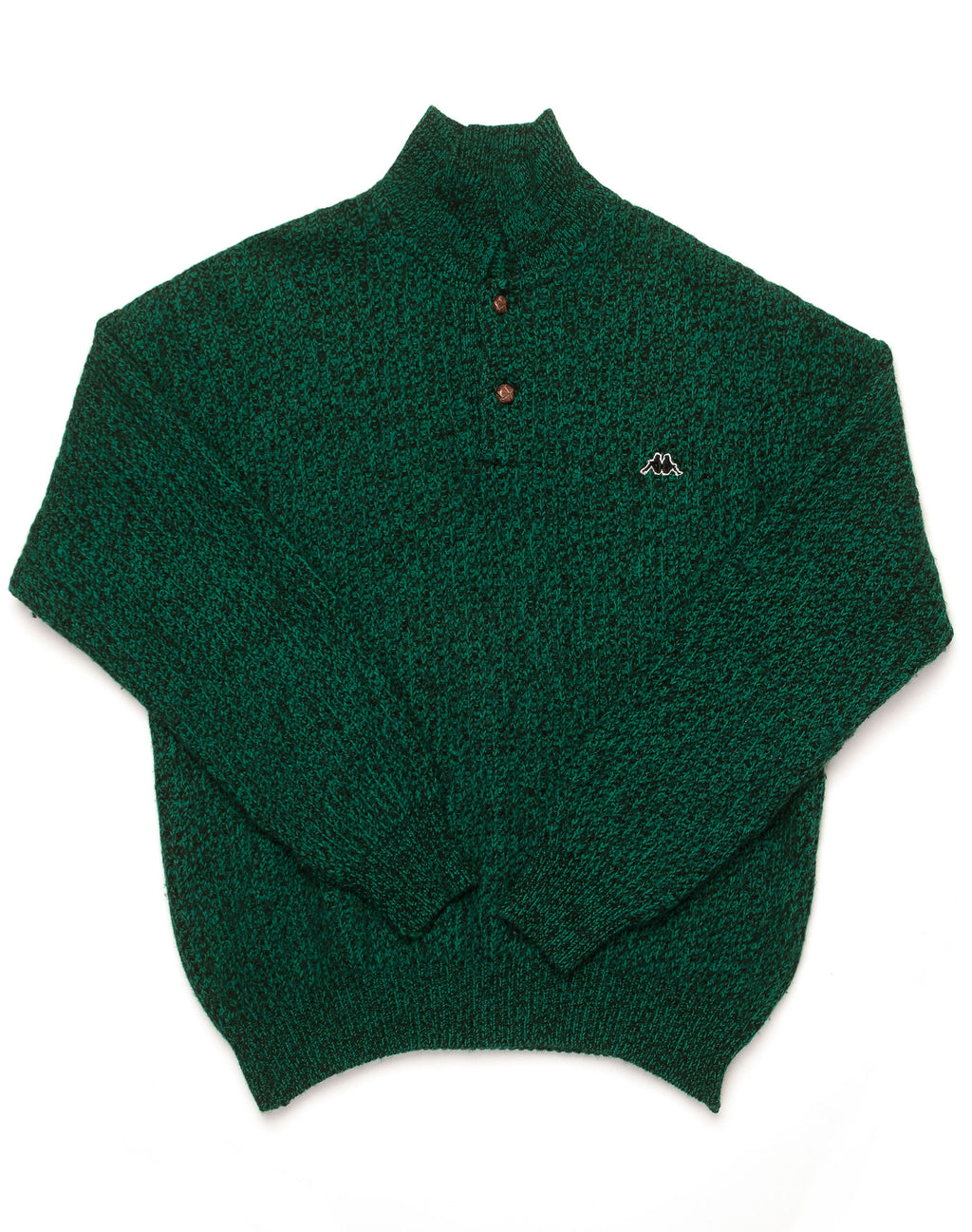 KAPPA GREEN KNITTED JUMPER SHIRT